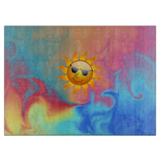 Sunny Fire and Ice Cutting Board