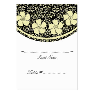 Sunny Floral Damask Wedding Seating Card Business Card