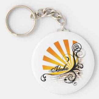 Sunny Floral Graphic Idaho Keychain