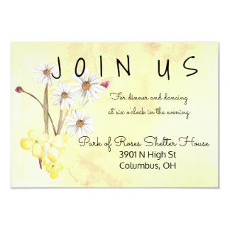 Sunny Flower Bunch Reception Card