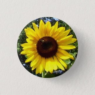 Sunny Flower Corsage - Allergy-Free! 3 Cm Round Badge