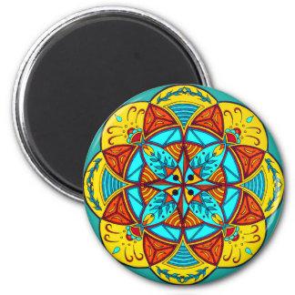 Sunny Flower Mandala Magnet