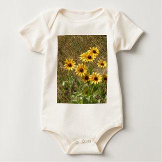 sunny flowers baby bodysuit