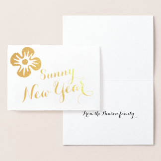 Sunny Foil New Years Card