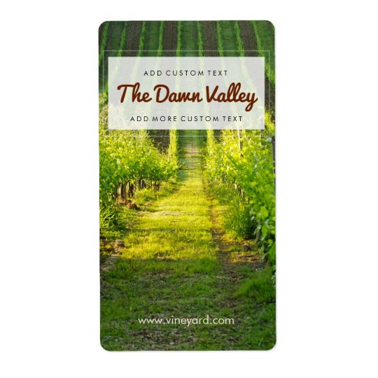 Sunny Green Vineyard Custom Wine Labels