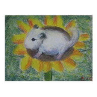 Sunny hamster postcard