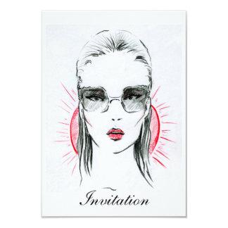 Sunny holiday fashion girl illustration card