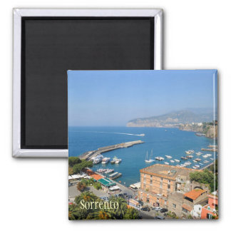 Sunny italian city Sorrento in summer quiet day Square Magnet