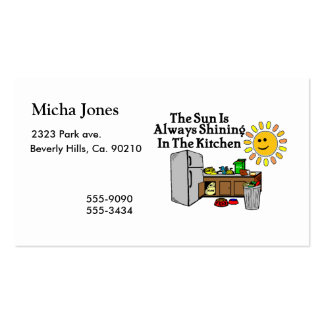 Sunny Kitchen Pack Of Standard Business Cards