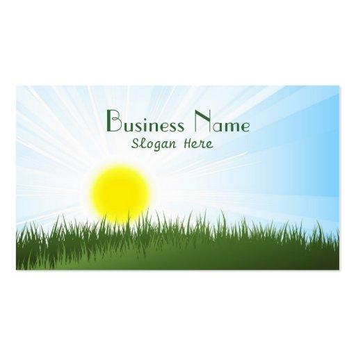 Sunny Landscape Business Card