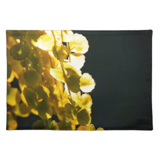 Sunny leaves placemat