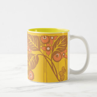 Sunny Leaves Two-Tone Coffee Mug