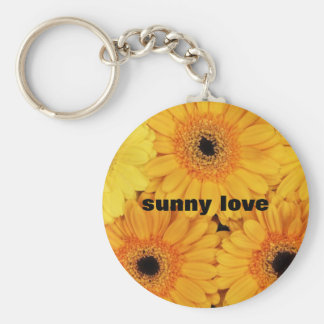 sunny love sunflower gifts collection basic round button key ring