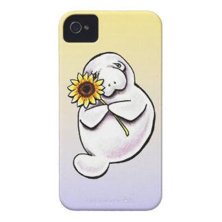 Sunny Manatee Off-Leash Art™ Case-Mate iPhone 4 Cases