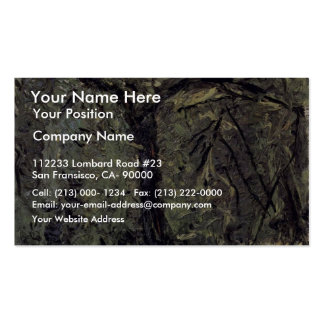 Sunny Meadow With Fruit Trees By Gerstl Richard Business Card
