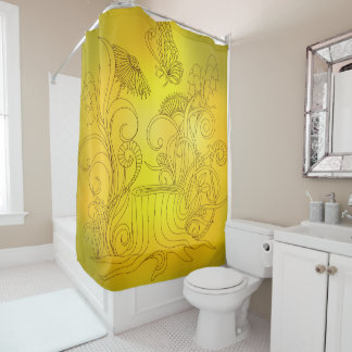 sunny moning shower curtain