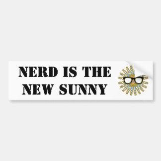 Sunny Nerd Glasses + your backgr. & ideas Bumper Sticker