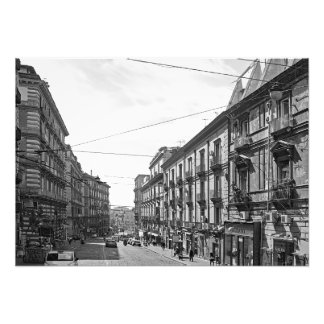 Sunny noon in the center of Naples Photo Print