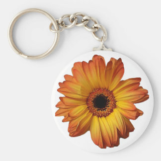 Sunny Orange gerbera flower bloom Keychains