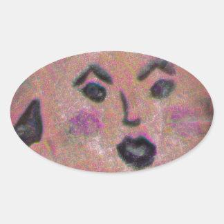 Sunny Oval Sticker
