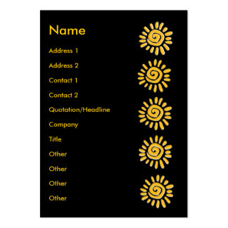 Sunny | pack of chubby business cards