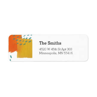 Sunny Painted Address Labels