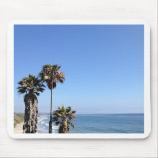 sunny palm trees mouse pad