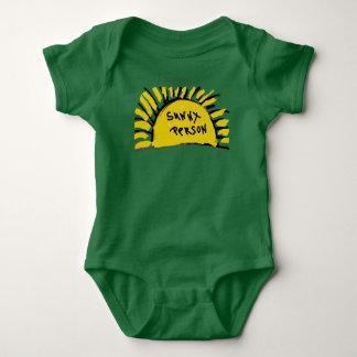 Sunny Person Sun Rays Baby Bodysuit
