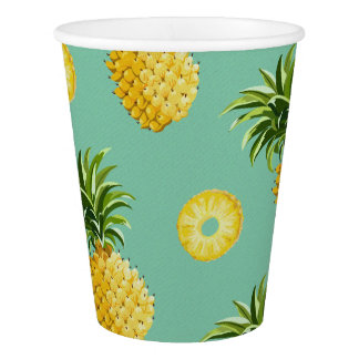 Sunny Pineapple Paper Cup