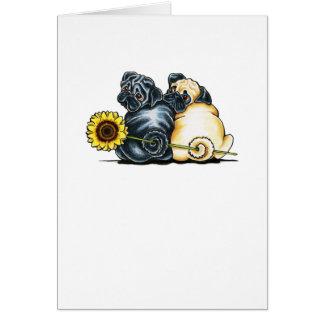 Sunny Pugs Card