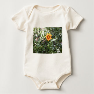 Sunny Red and Yellow Blossom Baby Bodysuit