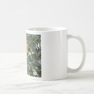 Sunny Red and Yellow Blossom Basic White Mug