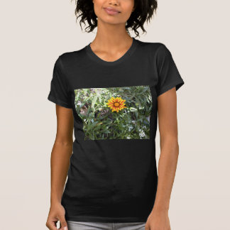 Sunny Red and Yellow Blossom Tee Shirt
