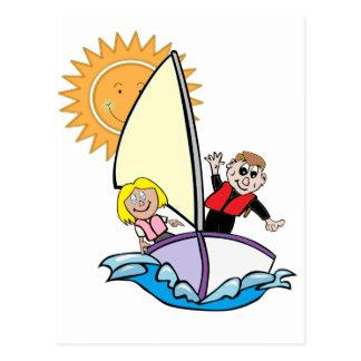 Sunny Sailing Postcard