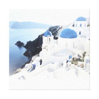 Sunny Santorini | Canvas Print