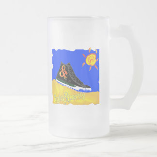 """Sunny Shoe"" by Katie winner 08.03.09 Frosted Glass Mug"