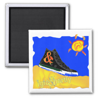 """""""Sunny Shoe"""" by Katie winner 08.03.09 Square Magnet"""