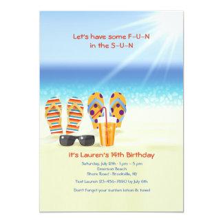 Sunny Shore Invitation