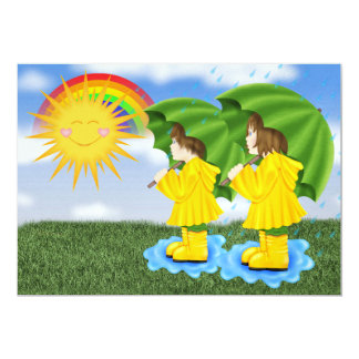 Sunny Showers - SRF 13 Cm X 18 Cm Invitation Card