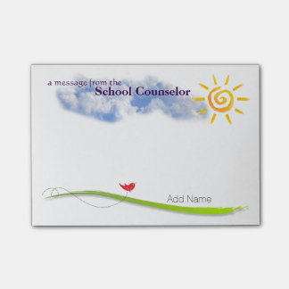 Sunny Skies Custom School Counsellor Notes