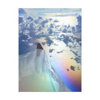 Sunny Sky Birefringence Rainbow Clouds Hong Kong Canvas Print