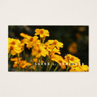 Sunny Smiles / Yellow Wildflowers Photography Business Card