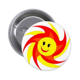 Sunny Smiley Face Button