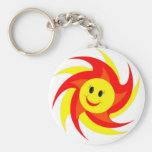Sunny Smiley Face Keychains