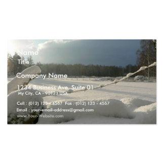 Sunny Snowy Fields Business Card Templates