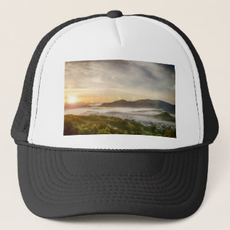 Sunny Soon Small Town Mist Sky Dawn The Morning Trucker Hat