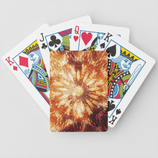 Sunny Star Flower Warm Brown Orange Colors Bicycle Playing Cards
