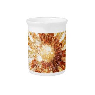 Sunny Star Flower Warm Brown Orange Colors Pitcher