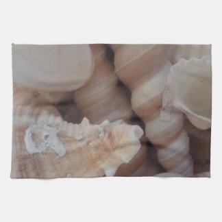 Sunny Summer Seashells, Sea Shell Beach Love Tea Towel