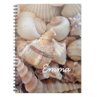 Sunny Summer Seashells, Sea Shells Beach Love Notebook